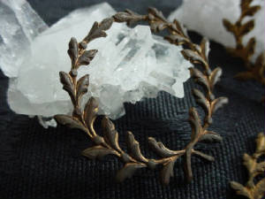 Old 1940s Laurel Leaf Wreath With Naturally Occuring Patina